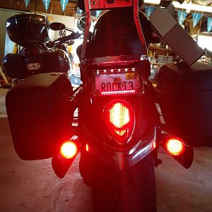 New led tail light and turn signals
