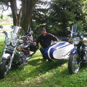 My 2 bikes and me.