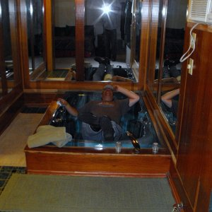 Jacuzzi in the cabin.....