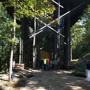 At Thorncrown chapel just outside of Eureka Springs